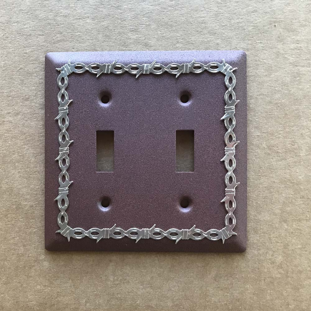 barbwire double light switch cover