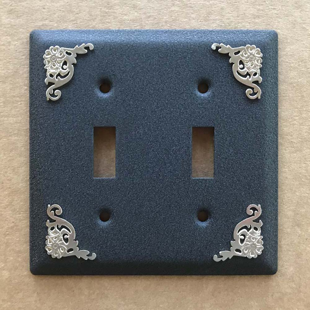 Western Filigree Double Light Switch Cover