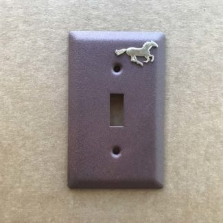 running horse single light switch cover