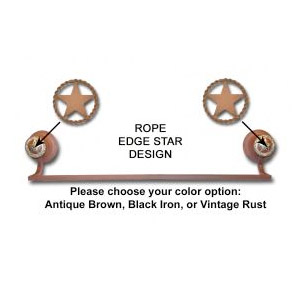 Rope Edge Star Towel Bar