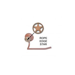 Rope Edge Star Toilet Paper Holder