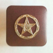 Square pull knob with engraved star