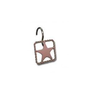 Square Rope Edge Star Shower Hook