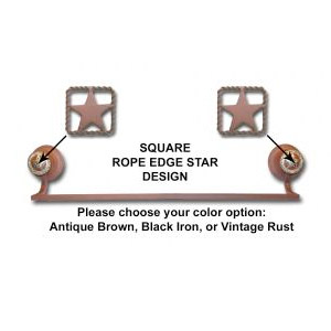 Square Rope Edge Star Towel Bar