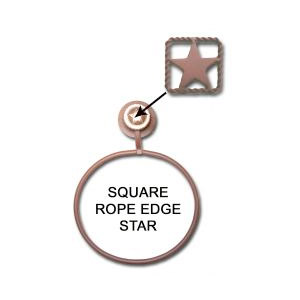Square rope edge star towel ring