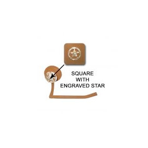 Square with Engraved star toilet tissue holder