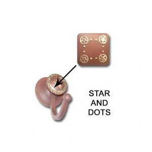 star and dots robe hook
