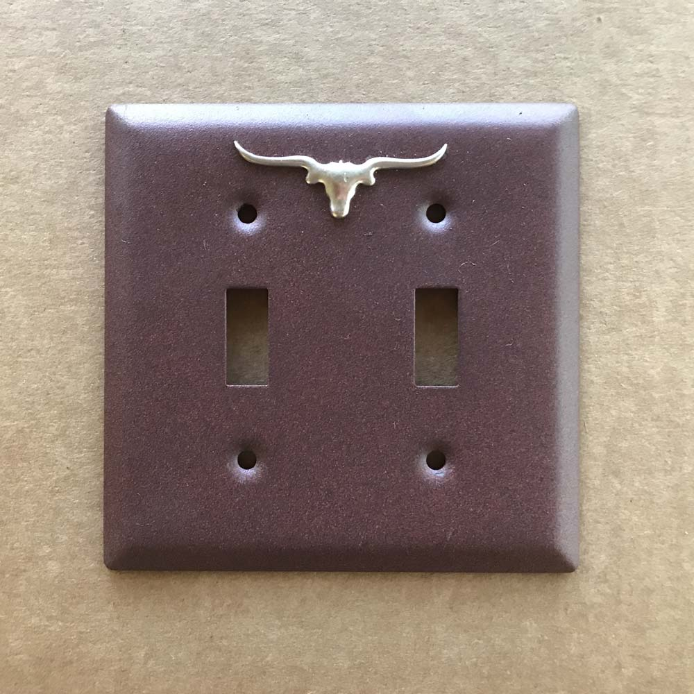 Double Light Switch Cover Longhorn Double Light Switch Cover  Old West Icons