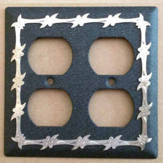 barbwire double electric outlet cover