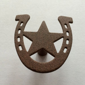Horseshoe Shaped Pull Knob with Star