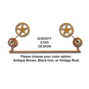 Sheriff Star Towel Bar