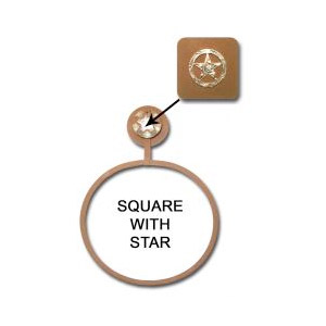 Square Engraved Star Towel Ring