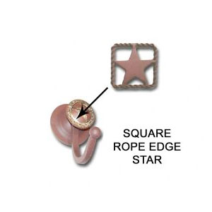 square rope edge robe hook with star