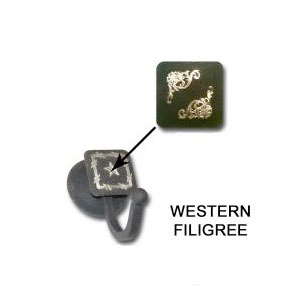 western filigree robe hook